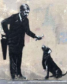 New works from Banksy in Paris – ZwartGoud – Graffiti World Banksy Graffiti, Street Art Banksy, Arte Banksy, Banksy Work, Graffiti Tattoo, Bansky, Banksy Stencil, Pop Art, Urbane Kunst