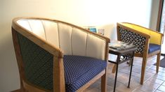 In this video we will transform this old chair with beautiful new fabric purchased from Sailrite giving us a very stylish set of chairs for the front lobby h...