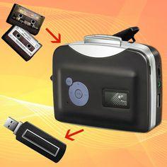 Reproductor y conversor de casetes en mp3