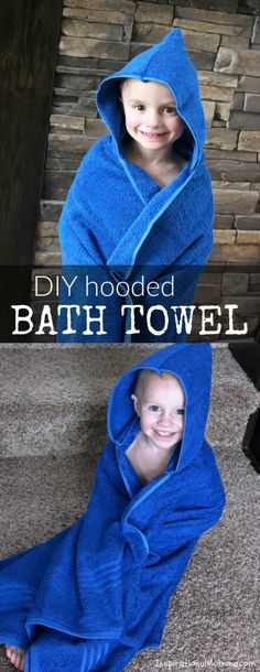 Sewing Gifts For Kids Just look at this cute, easy DIY Hooded Bath Towel! It is a perfect sewing project for beginners. You can create one today for a sweetheart in your life! Love Sewing, Sewing For Kids, Baby Sewing, Sewing Hacks, Sewing Tutorials, Sewing Crafts, Sewing Tips, Sewing Basics, Fabric Crafts