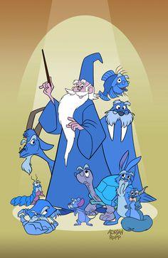 cartoon characters Merlin- A Wizards Duel Lineup by toonbaboon on DeviantArt Disney Pixar, Walt Disney, Animation Disney, Disney Nerd, Disney Fan Art, Disney Villains, Disney And Dreamworks, Disney Cartoons, Disney Love