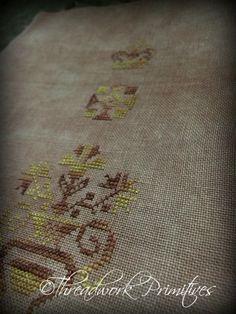 Pa German Show Towel design ~ Threadwork Primitives