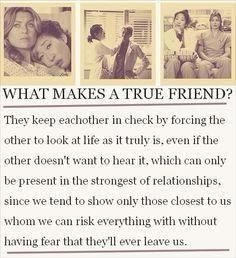 True friends are a blessing!