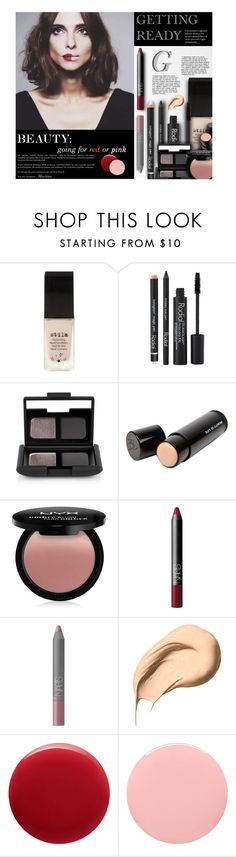 """Red or Pink?"" by thewondersoffashion ❤ liked on Polyvore featuring beauty, Stila, Rodial, NARS Cosmetics, Beauty Is Life, NYX, Bobbi Brown Cosmetics, Oribe, Deborah Lippmann and BeautyTrend"
