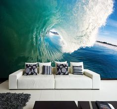 Wall MURAL The Perfect Wave Wall Paper, Self-Adhesive Wall Covering, Peel And Stick Repositionable Ocean Wallpaper