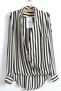 Gender: Women Decoration: Button Clothing Length: Regular Pattern Type: Striped Sleeve Style: Regular Style: Formal Fabric Type: Chiffon Material :Cotton Collar: V-Neck Shipping: FREE -Worldwide!
