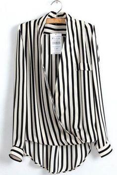 Women's Formal Long Sleeve V Neck Blouse