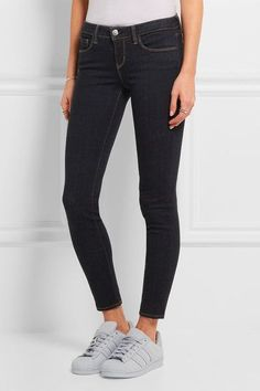 L'Agence - The Chantal Low-rise Skinny Jeans - Dark denim - 31