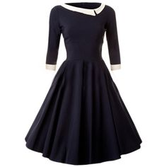 Assorted Colors Vintage Skater-dress (€9,14) ❤ liked on Polyvore featuring dresses, blue dress, blue skater dress, vintage skater dress, skater dress and vintage dresses