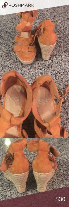 UGG wedges UGG Wedges, size 7, never worn because it was a sample shoe. Beautiful shoe! UGG Shoes Wedges