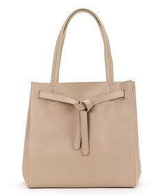 Look at this #zulilyfind! Khaki Pebbled Tote by Christian Livingston #zulilyfinds