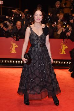 Hannah Herzsprung attends the 'Django' premiere during the 67th Berlinale International Film Festival Berlin at Berlinale Palace on February 9, 2017 in Berlin, Germany.