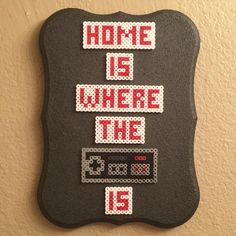 Nintendo quote perler beads by thepixelizedprincess