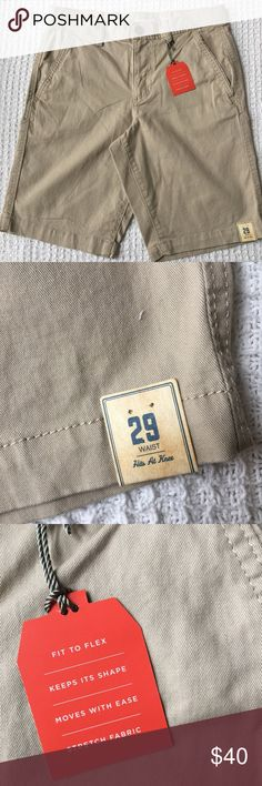 New Khaki Flat Front Shorts Men's Brand new with tags. Urban Pipeline Shorts Flat Front