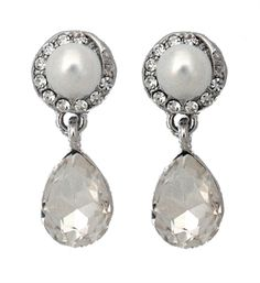 Cadence Pearl & Crystal Earrings £25
