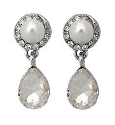 Cadence Pearl & Crystal Earrings £25