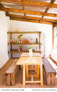 rak vir die stoep_Quirky Cottage {Home Tour} | {Home Tours} | The Pretty Blog
