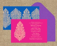 Indian Wedding Invitation: Blooming Paisley - Inspired by the blooms in spring adorned with rhinesto Indian Wedding Cards, Pocket Wedding Invitations, Handmade Wedding Invitations, Destination Wedding Invitations, Printable Wedding Invitations, Invitation Set, Wedding Invitation Design, Wedding Planner, Tamil Wedding