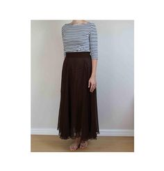 vintage maxi skirt 90s brown maxi skirt chiffon brown maxi