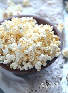 Salt and Vinegar Popcorn! Super easy and delicious!