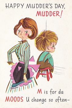 Vintage Mother's Day Card by jerkingchicken, via Flickr  LOL what my kids should give me!