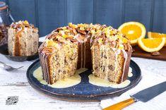 Pecan Pound Cake With Orange Glaze Baking Cupcakes, Cupcake Cakes, Cake Baking, Flan, Cranberry Upside Down Cake, Hummingbird Cake Recipes, Southern Pound Cake, Candied Orange Peel, Moist Cakes
