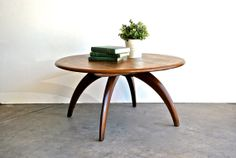 Mid Century Round Coffee Table by Haywood by charliesnest on Etsy, $399.00