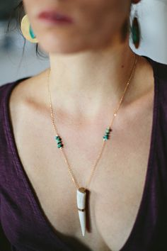 Gold, Turquoise, Antler shed... what else does a girl need? Boho Jewelry by Cannelita, a Bozeman MT based co. She focused on Naturally Shed Antler Jewelry