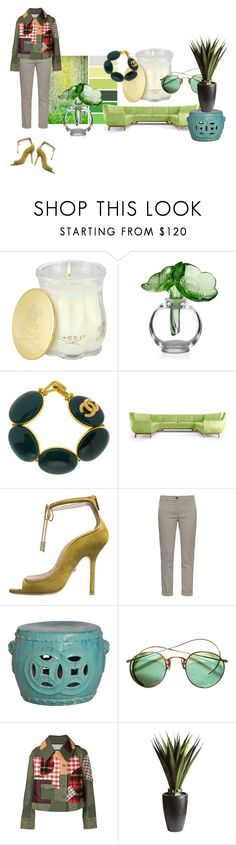 Water under the fridge. by kohlanndesigns on Polyvore featuring Angel Chen, Etro, Chanel, Creed, Joybird Furniture, Pier 1 Imports, Lalique, women's clothing, women's fashion and women