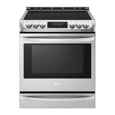 Smart Wi-Fi Enabled Electric Single Oven Slide-in Range with ProBake Convection® and EasyClean® - JCPenney Induction Stove, Induction Heating, Convection Oven Cooking, Thermal Cooking, Slide In Range, Cooking Appliances, Kitchen Appliances, Single Oven, Oven Cleaning