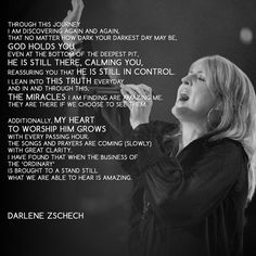 Darlene Zschech, a woman of faith and wisdom... shared her journey on fighting cancer. I admire her courage and love to worship Jesus despite her trials. #Hillsong