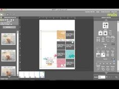 Using scrapbook templates on a card