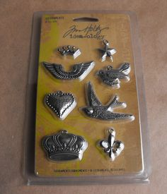 Tim Holtz  Adornments ideaology Metal charms by ThePaperPeddler, $7.00