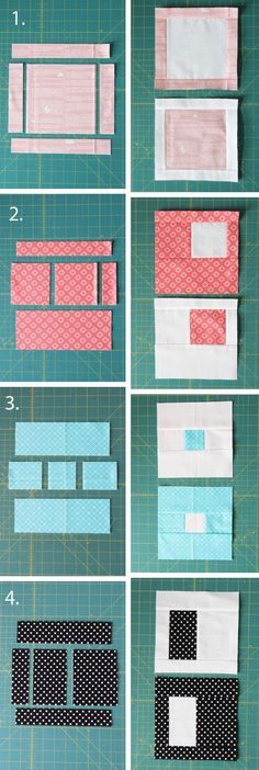 Easy Stack, Cut, and Sew Blocks Tutorial with multiple quilt sizes