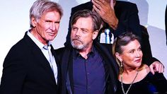 Harrison Ford, Mark Hamill, and Carrie Fisher return in Star Wars: Episode VII - The Force Awakens at the Hollywood Premiere - 12/14/15