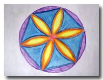 Age 12 ~ Geometric Drawing: These forms were created using a straight edge and compass and are based on different number patterns.