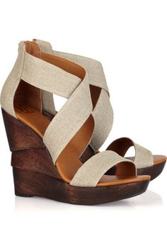 Diane von Furstenberg Opal Linen Wedge Sandals are a must-have fashion item. You have got to have these chic shoes. Michelle Williams, Cute Shoes, Me Too Shoes, Pretty Shoes, Keds, Wedge Sandals, Wedge Shoes, Jordan Shoes, Le Closet