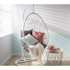 Most Comfortable Office Chair Swing Chair For Bedroom, Swinging Chair, My New Room, My Room, Home Bedroom, Bedroom Decor, White Room Decor, Hangout Room, Chill Room