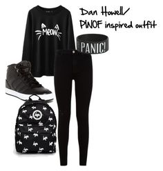 """Dan Howell/ PINOF inspired outfit"" by kawaii-oreo-unicorn on Polyvore featuring 7 For All Mankind, adidas and Hype"
