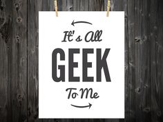 Check out our geek print selection for the very best in unique or custom, handmade pieces from our prints shops. Nerd Cave, Geek Squad, Geek Art, Geek Girls, Nerdy, Typography, Art Prints, Embroidery Ideas, Geeks