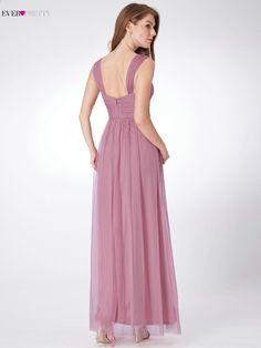 69dcef91873 Ever Pretty Tulle družička šaty pro svatební party EP07304 A Line  jednoduché svatební hosta šaty Ženy robe demoiselle d honneur
