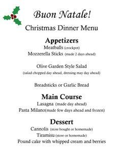 Christmas menu ideas on pinterest - Christmas menu pinterest ...