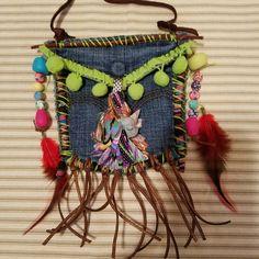 Boho tribal statement necklace Boho Necklace, Necklaces, Diy Crochet, Dream Catcher, Hobo Bags, Xmas, Denim, Jewelry, Outfits