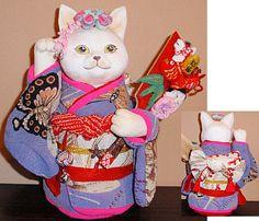 川田 春子作 招き猫