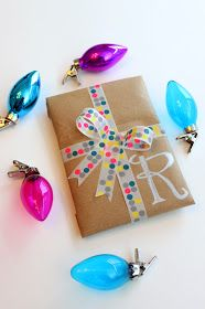 This year I decided to wrap gifts with grocery bags and washi tape. We use reusable shopping bags but when we forget to bring them to the st...