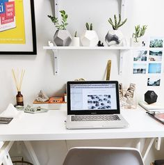Geometric concrete planters are an easy way to add life to your work space/desk area. What projects will you Diy Office Desk, Desk Areas, Concrete Planters, Space, Easy, Projects, Life, Furniture, Home Decor