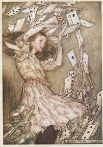 Alice - Nothing but a pack of Cards  Arthur Rackham
