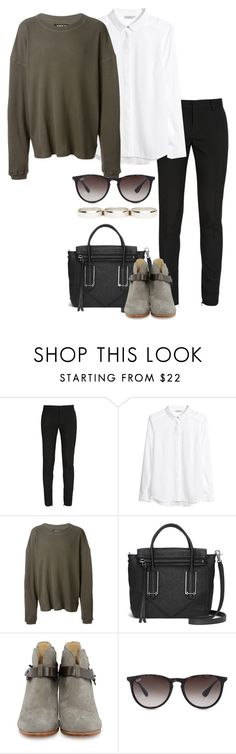 """""""Untitled #1264"""" by hernandezjenni ❤ liked on Polyvore featuring Yves Saint Laurent, H&M, adidas Originals, Botkier, rag & bone, Ray-Ban, DailyLook, women's clothing, women and female"""