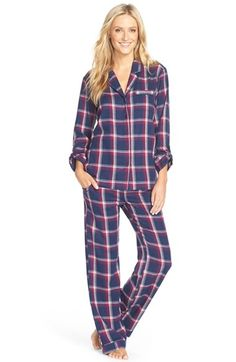 Nordstrom+Print+Cotton+Twill+Pajamas+available+at+#Nordstrom