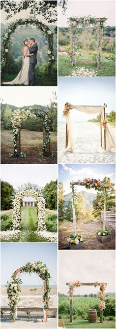 20 DIY Floral Wedding Arch Decoration Ideas 20 DIY Floral Wedding Arch Decoration IdeasHaving a perfect wedding arch is as important as choosing the right wedding dress, because it is Ceremony Backdrop, Outdoor Ceremony, Wedding Ceremony, Backdrop Ideas, Beach Ceremony, Rustic Backdrop, Wedding Backdrops, Wedding Arch Rustic, Outdoor Wedding Decorations